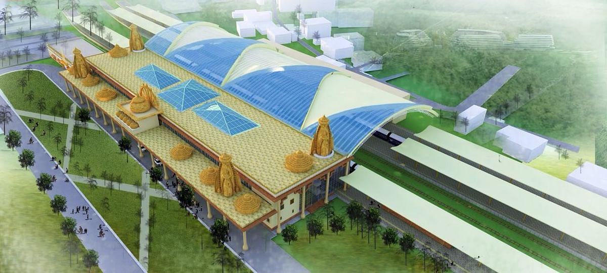 सरकार ने अयोध्या में रेलवे स्टेशन को ही राम मंदिर की शक्ल देने का ऐलान किया है.