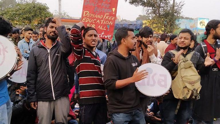 JNU छात्रों का राष्ट्रपति भवन तक मार्च