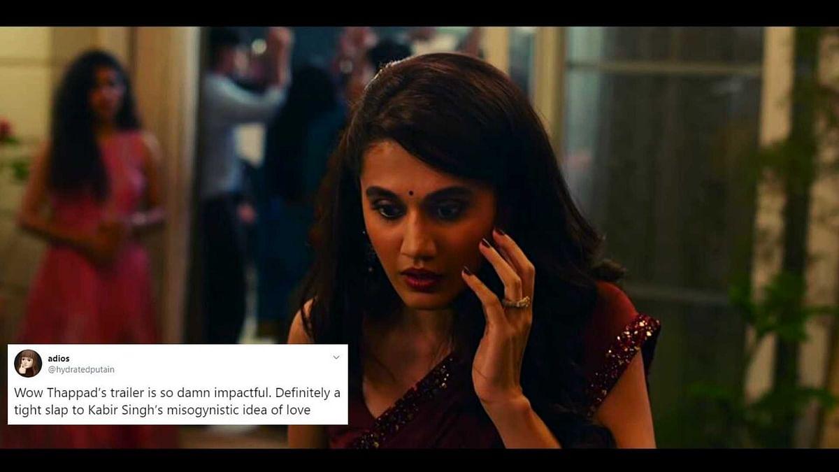 'कबीर सिंह' के मुंह पर जोरदार तमाचा है 'थप्पड़' का ट्रेलर : ट्विटर