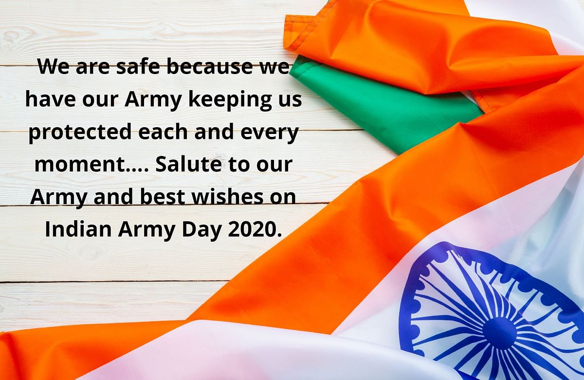 Happy Indian Army Day 2020 Wishes in English, Quotes, Images, Status, Greetings and Messages.