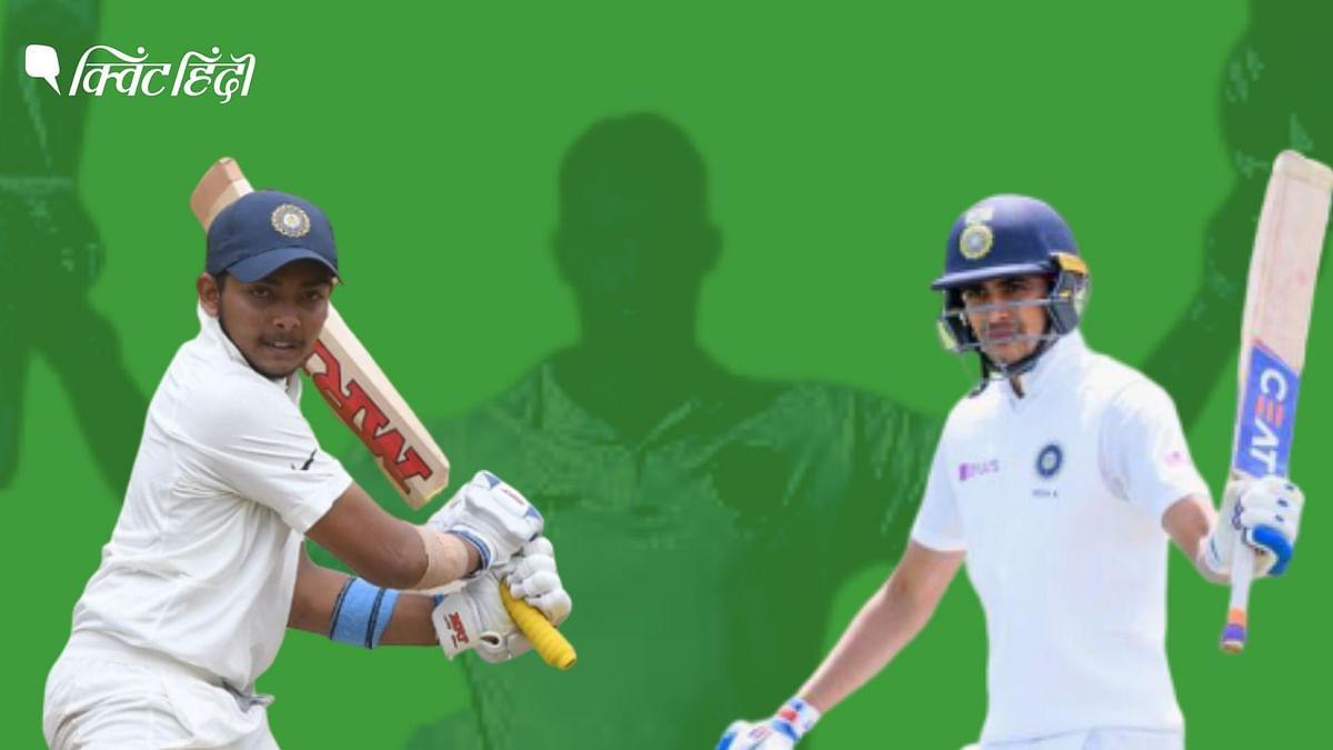शुभमन गिल और पृथ्वी शॉ को भारतीय टीम में ओपनर के तौर पर शामिल किया गया है