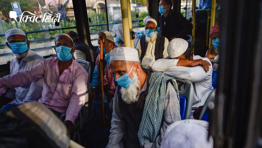 देशभर में कम से कम तीन अलग-अलग स्थानों पर कोविड-19 टेस्ट में कई धर्मगुरुओं के पॉजिटिव पाए जाने के बाद इस्लामिक संगठन तबलीगी जमात के लोगों को बस से अस्पताल ले जाया जा रहा है.