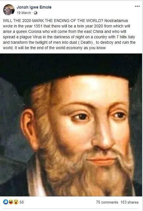 नास्त्रेदमस ने की थी कोरोना वायरस की भविष्यवाणी? जानिए दावे का सच