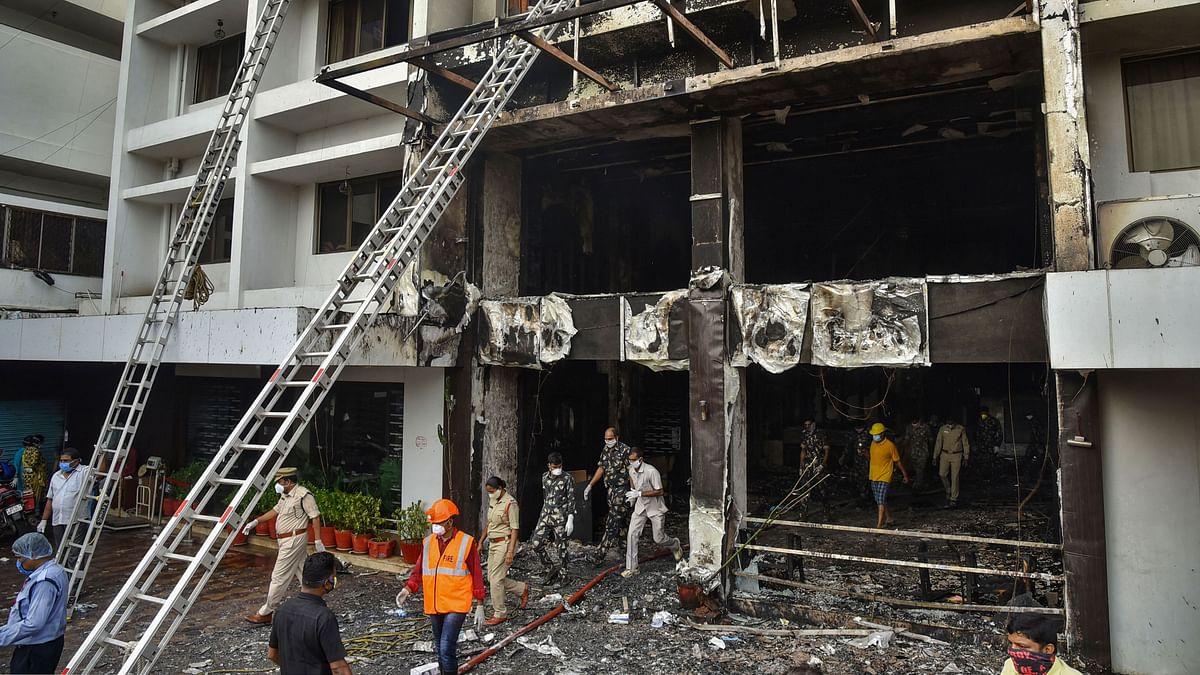 विजयवाड़ा के कोविड केयर सेंटर में आग,10 की मौत, 30 मरीज बचाए गए