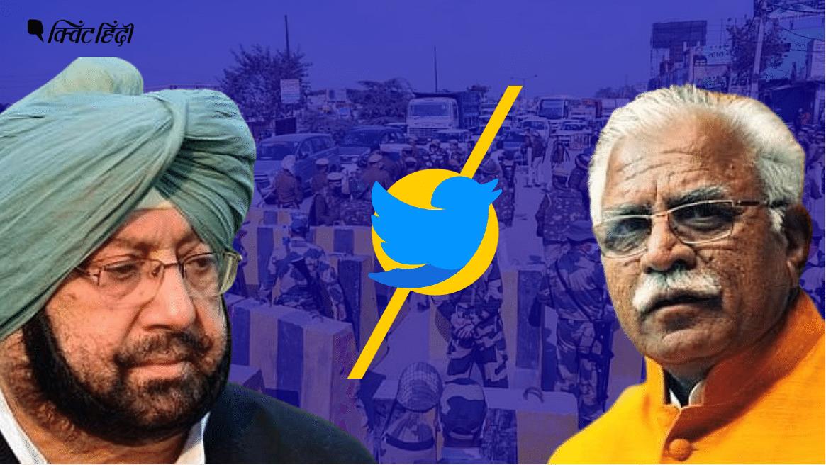 सड़क पर किसान, पंजाब और हरियाणा के CM की ट्विटर वाली जंग