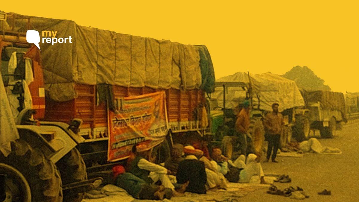 दिल्ली के साथ हरियाणा में भी किसानों का प्रदर्शन जारी