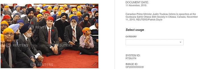 क्या कनाडा के PM जस्टिन ट्रूडो ने किसानों के समर्थन में धरना दिया?