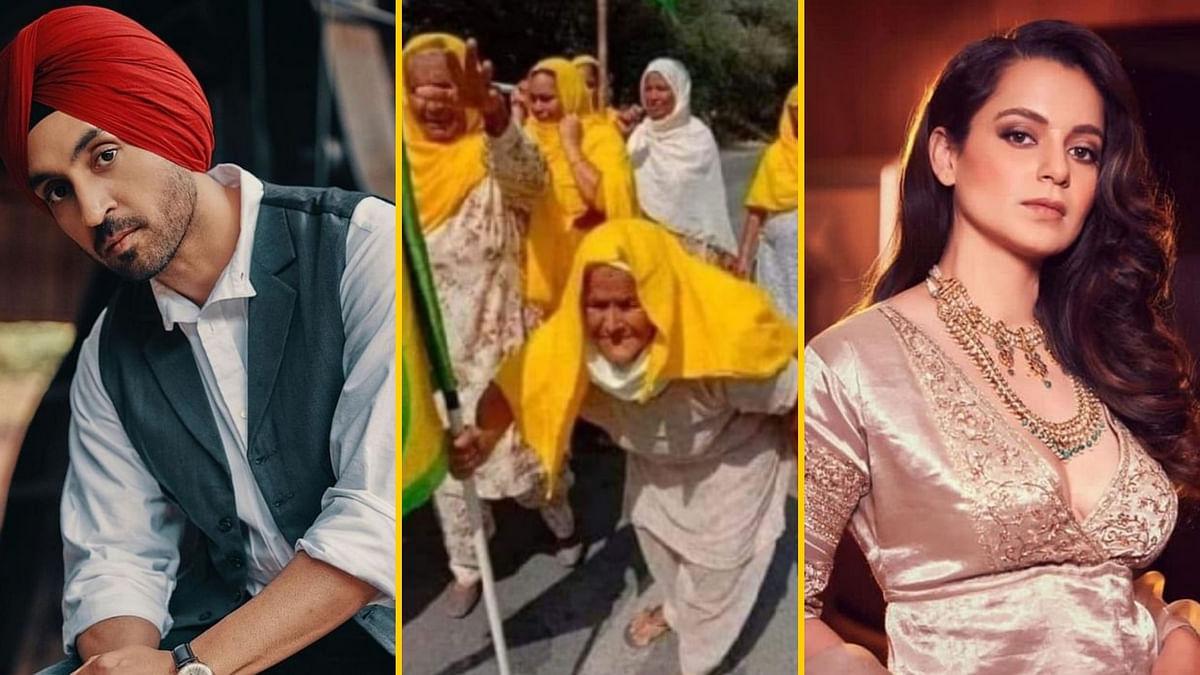 किसान आंदोलन की वायरल फोटो पर दिलजीत ने दिया कंगना रनौत को जवाब