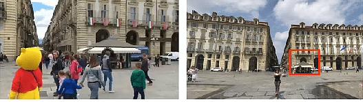 दाईं तरफ - वायरल वीडियो के विजुअल्स, दाईं तरफ - गूगल मैप की फोटो