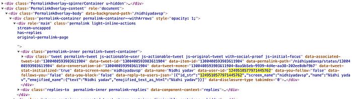 @nidhiyadavsp अकाउंट के वेबकैच का कोड