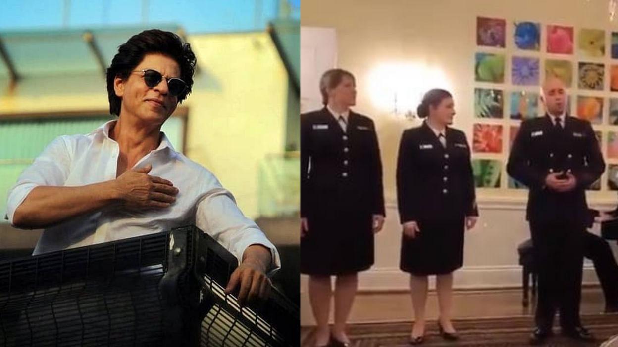 Shah Rukh Khan   American Navy sings 'Swades' song, Shahrukh Khan remembers his shooting days. US Navy Band Sang SRK's Swades Song