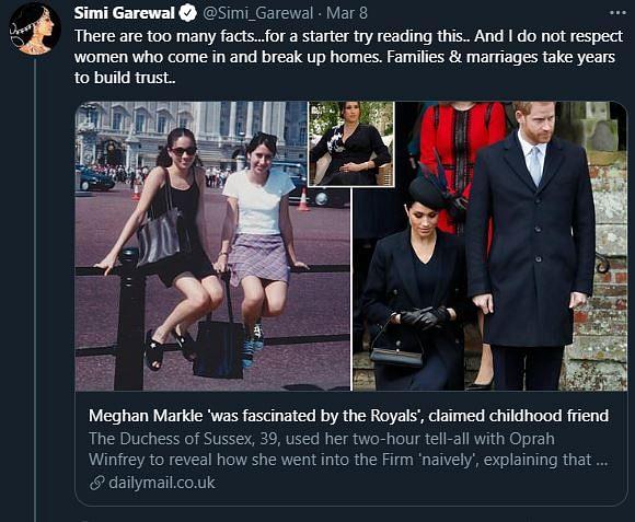 सिमी, 'दुष्ट' मेगन नहीं, शाही परिवार में उनके साथ हुआ 'बर्ताव' है