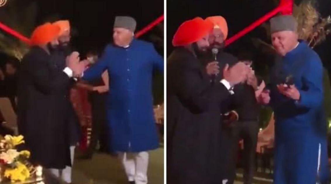 कैप्टन अमरिंदर सिंह के साथ फारूक अब्दुल्ला ने किया डांस