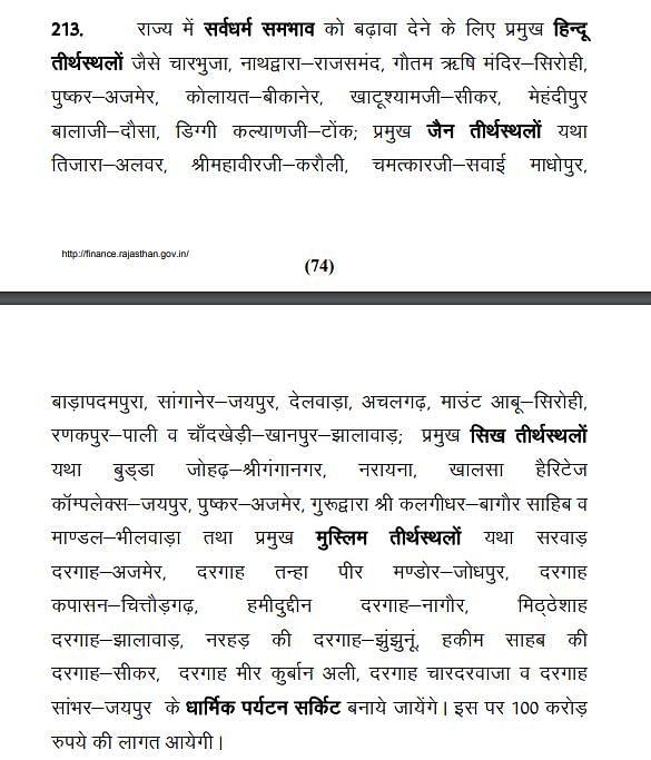 राजस्थान सरकार के वित्तीय वर्ष 2021-22 के बजट डॉक्यूमेंट का अंश