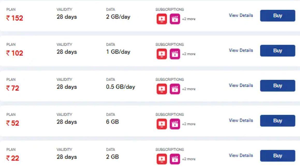 Jio ने लॉन्च किए 5 नए डाटा प्लान, 22 रुपये में 28 दिन की वैलिडिटी