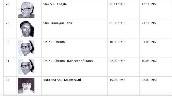 भारत के दूसरे शिक्षा मंत्री के एल श्रीमाली थे.