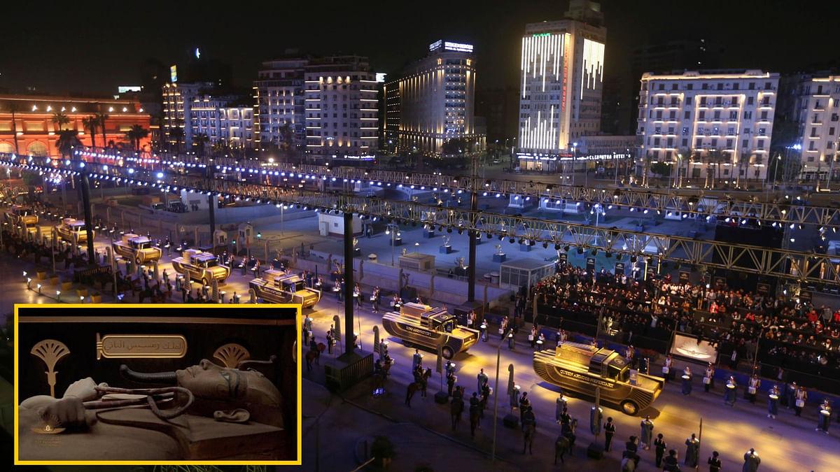 मिस्त्र के काहिरा में निकाला गया 22 ममी का जुलूस