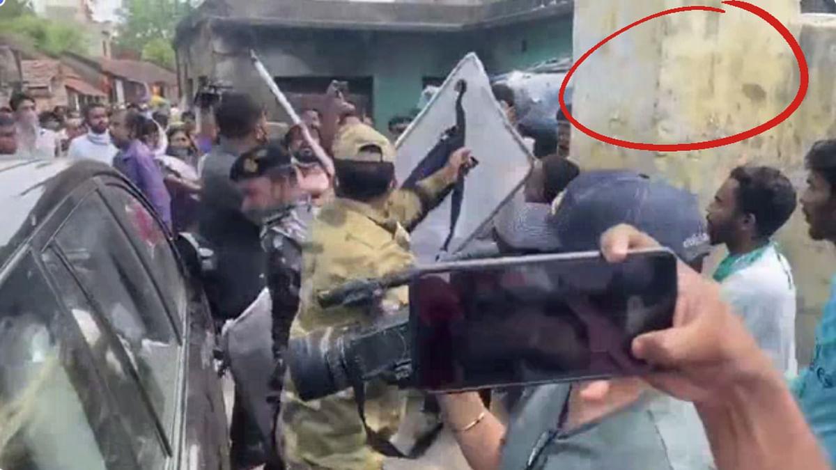 WB: बीजेपी नेता लॉकेट चटर्जी ने नहीं तोड़ा खुद अपनी कार का शीशा