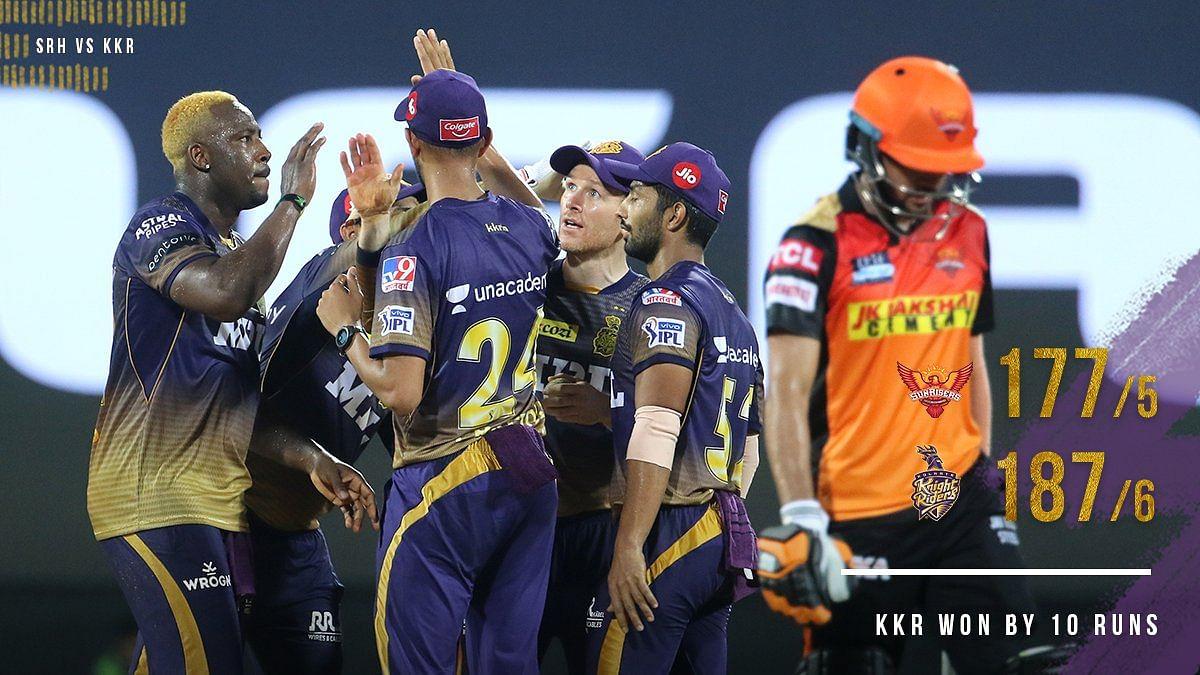 SRH VS KKR: कोलकाता ने हैदराबाद को 10 रनों से हराया, मैच रिपोर्ट