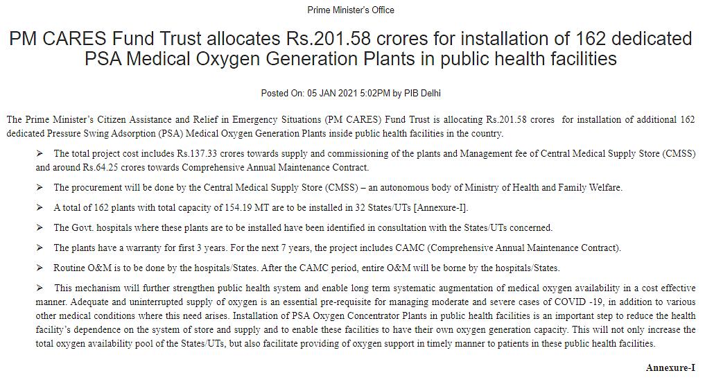 ऑक्सीजन प्लांट के लिए केंद्र से राज्यों को मिला फंड? झूठा है दावा