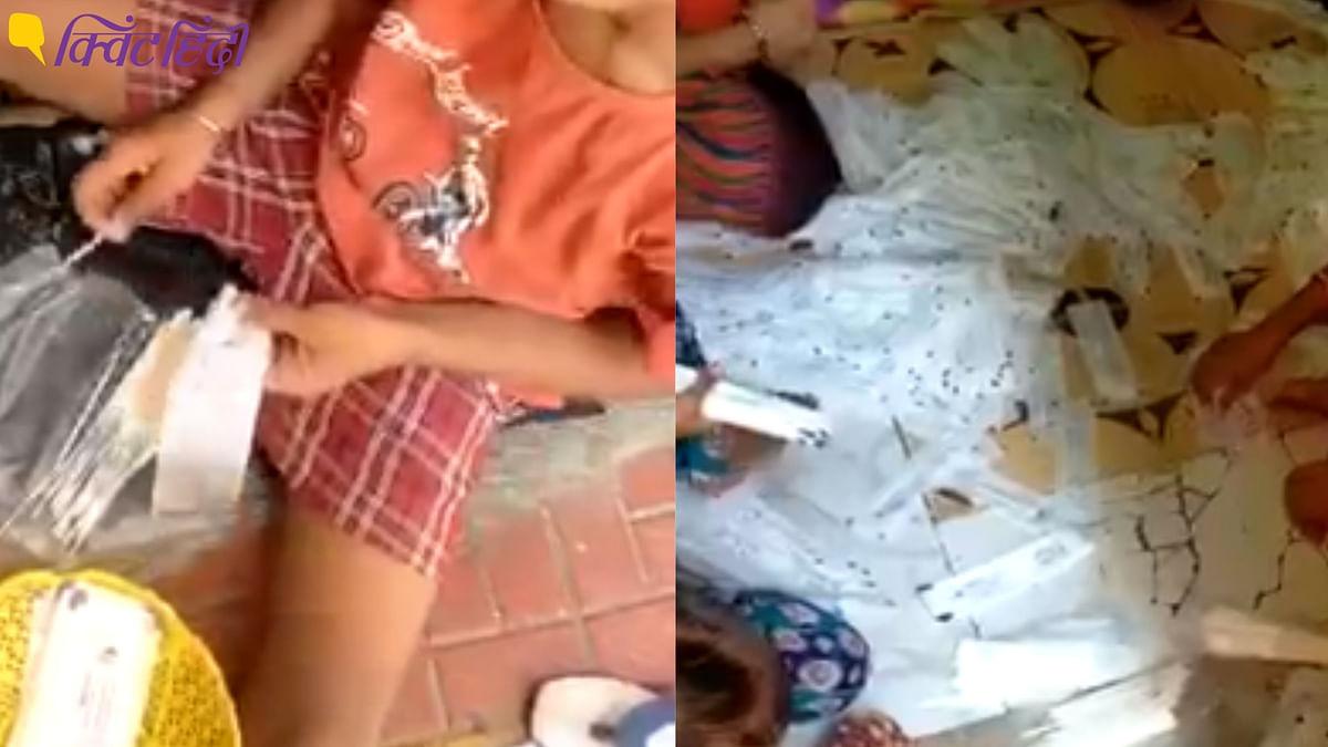 मुंबई के उल्हासनगर में कोवि़ड टेस्टिंग किट की पैकिंग का एक वीडियो वायरल हुआ है