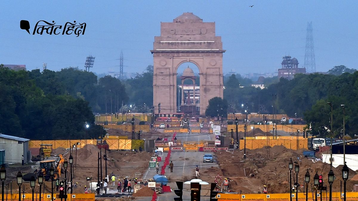 सेंट्रल विस्टा रीडेवलपमेंट प्रोजेक्ट के तहत दिल्ली के राजपथ पर काम जारी, 6 मई, 2021