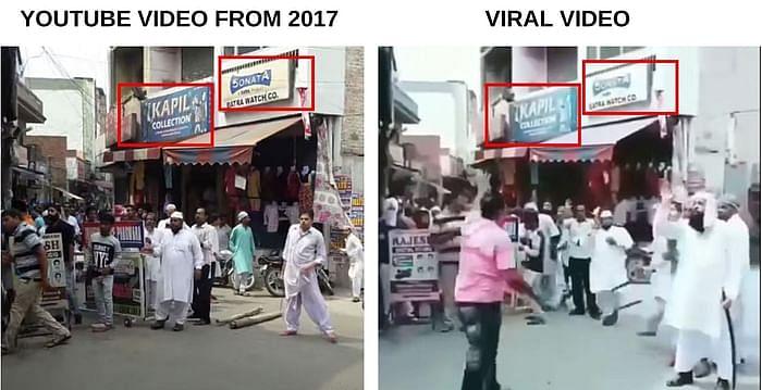 दोनों वीडियो में एक जैसे विजुअल देखे जा सकते हैं.