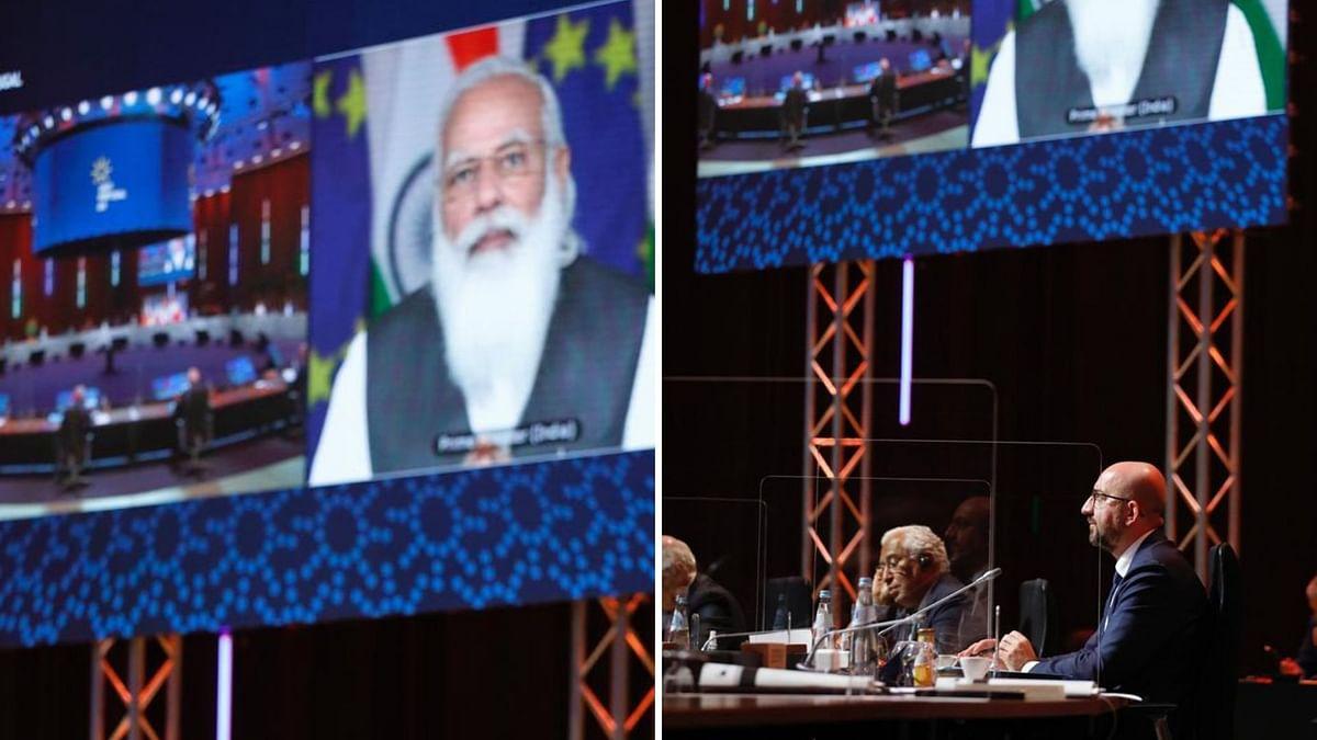 प्रधानमंत्री नरेंद्र मोदी ने लिया ईयू नेताओं के साथ बैठक में हिस्सा