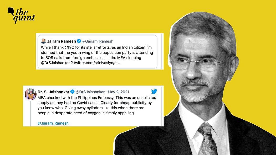 """<div class=""""paragraphs""""><p>विदेश मंत्री और कांग्रेस नेताजयराम रमेश के बीच ट्विटर वॉर&nbsp;&nbsp;</p></div>"""