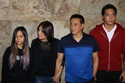 अपने परिवार के साथ डैनी डेंजोंगप्पा