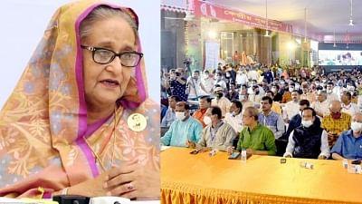 बांग्लादेश: शेख हसीना ने हिंदू समुदाय से कहा, खुद को अल्पसंख्यक न समझें