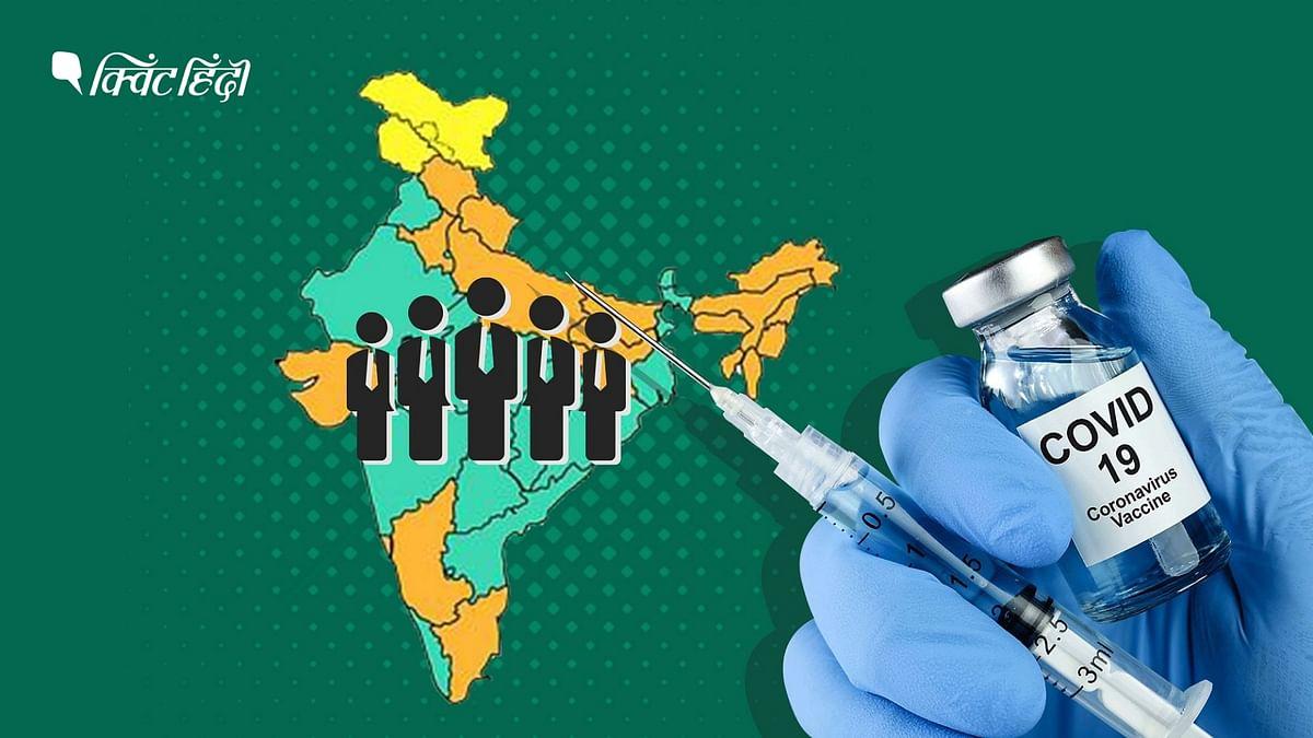"""<div class=""""paragraphs""""><p>भारत में 99 करोड़ लोगों ने कोविड वैक्सीन की एक खुराक ली</p></div>"""