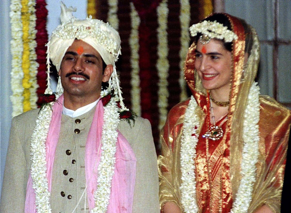 Priyanka Gandhi and Robert Vadra on their wedding day. (Photo: Reuters)