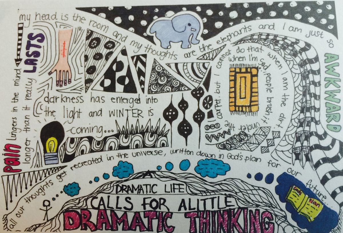 One of the many 'doodles' from <i>My Little Epiphanies'</i>
