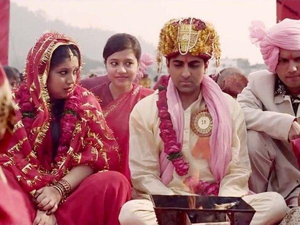 Bhumi Pednekar and Ayushmann Khurana in Yash Raj Films'&nbsp;<i>Dum Laga Ke Haisha.</i>