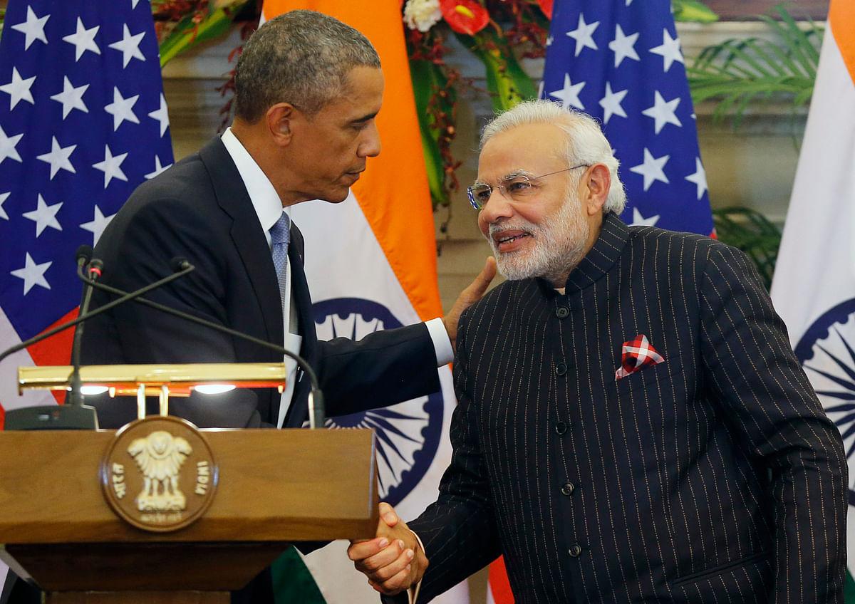 US President Barack Obama with Prime Minister of India Narendra Modi. (Photo: Reuters)