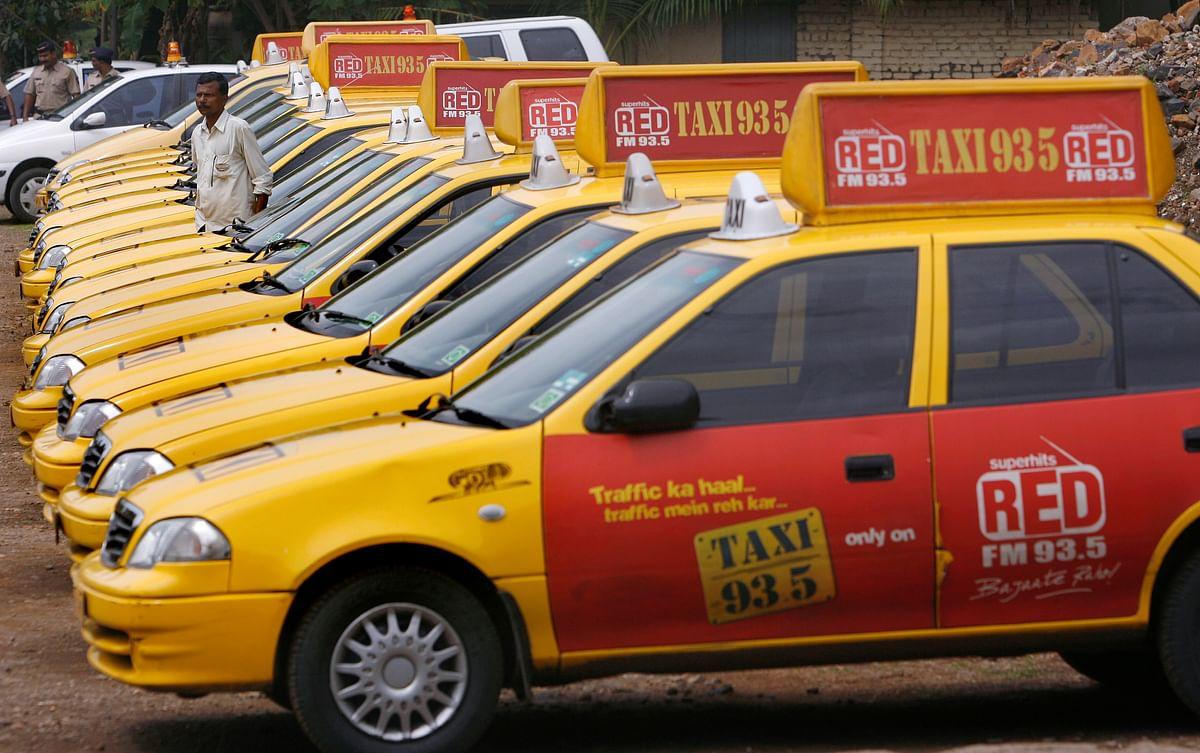 Private cabs in Mumbai. Photo: Reuters