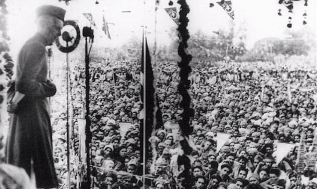 Mohammad Ali Jinnah addressing a public gathering. (Photo Courtesy: Youtube screengrab)