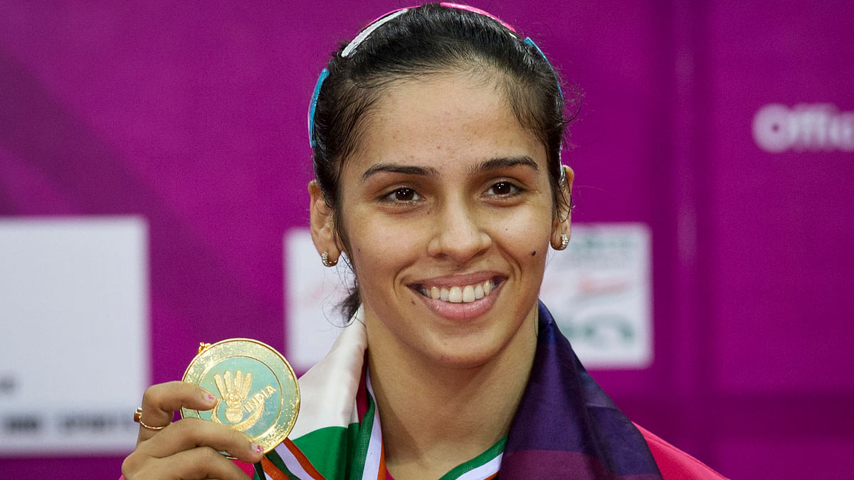 Saina with her Indian Open Super Series medal. (Photo: AP)