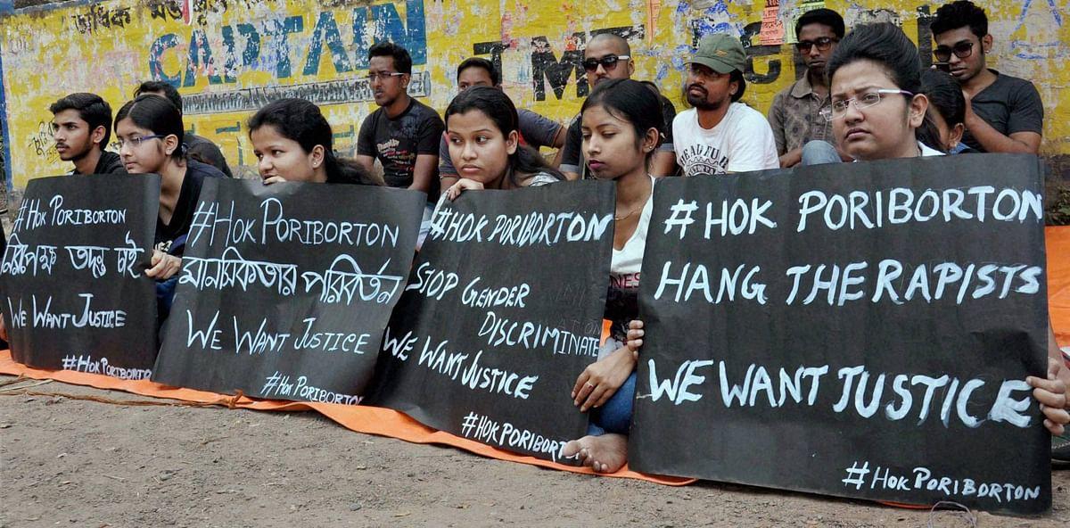 Anti-rape protests in Kolkata. (Photo: PTI)