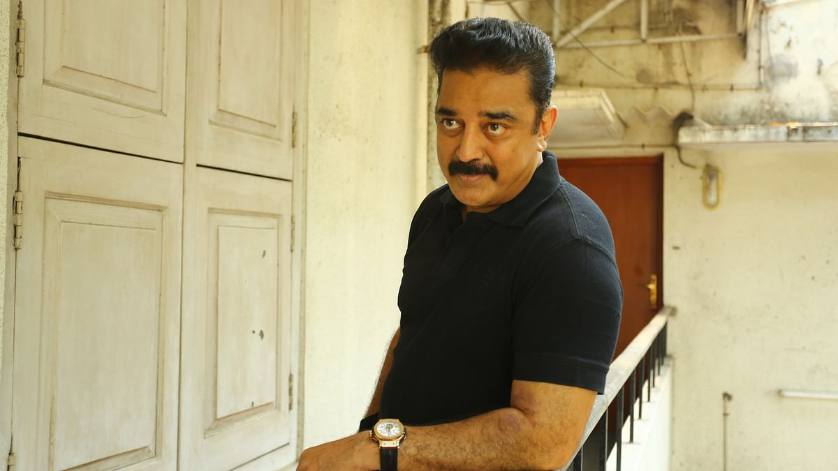 Kamal Haasan escaped after his house caught fire. (Photo Courtesy: Twitter)