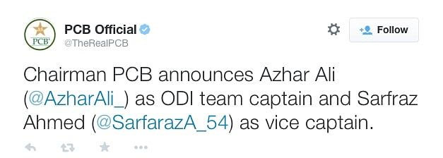 Haven't Played an ODI in 2 Years? You are Pakistan's New Skipper!