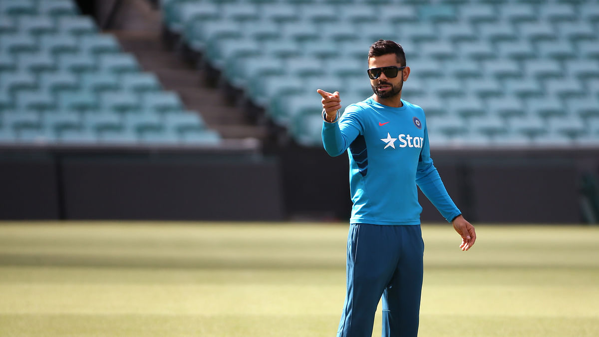 Virat Kohli during a team practice session. (Photo: AP)