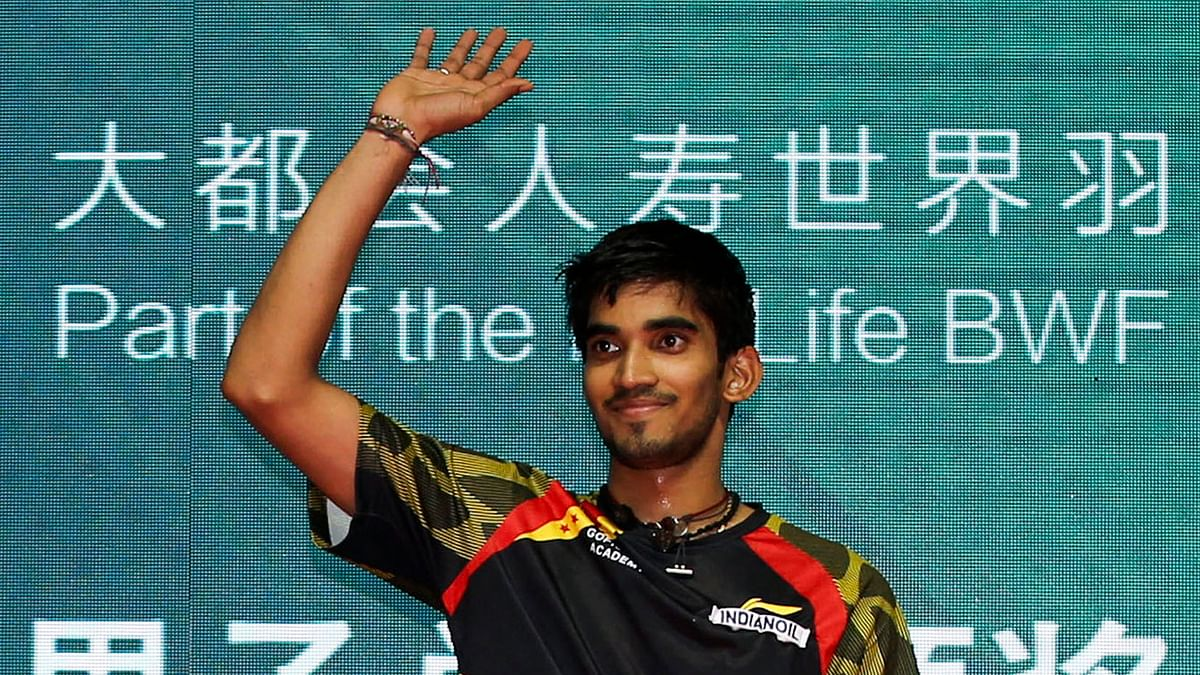File picture of Kidambi Srikanth who won the Swiss Open title on Sunday. (Photo: Reuters)