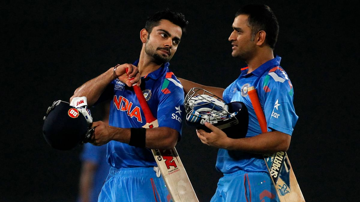 The two Indian skippers, Virat Kohli and MS Dhoni look forward to working with Anil Kumble. (Photo: Reuters)