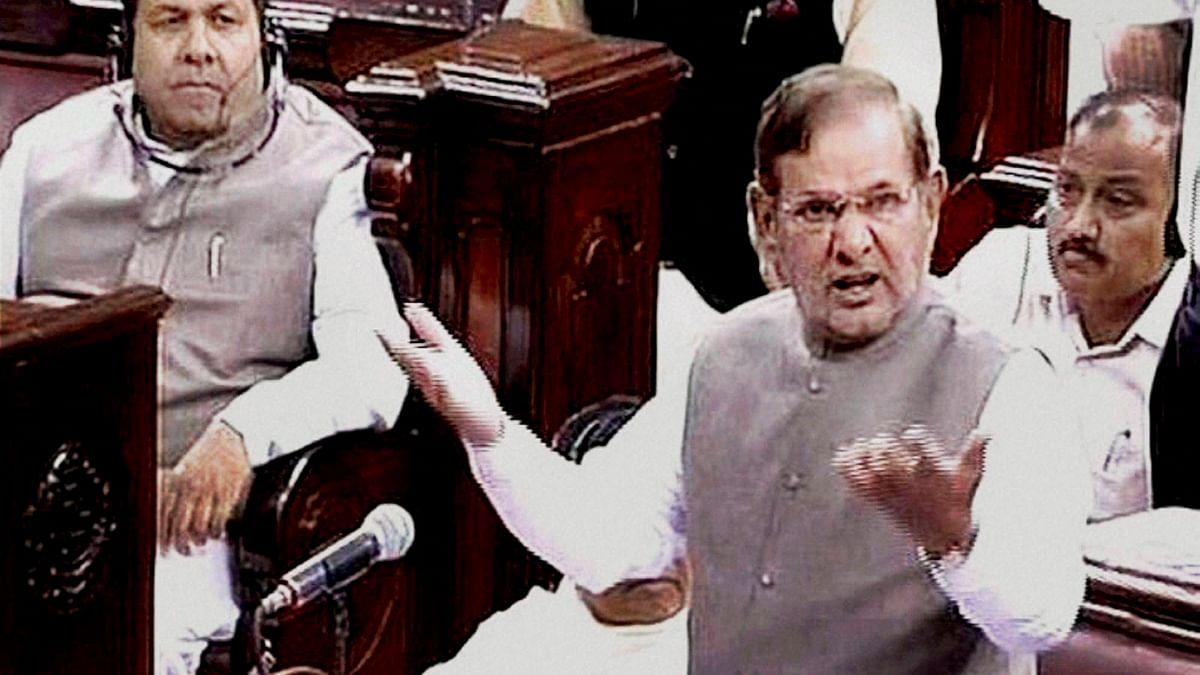 Sharad Yadav in the Rajya Sabha (Photo: PTI)