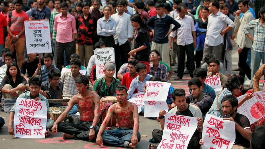 <!--StartFragment-->Bangladeshi students and social activists protest against the killing of Avijit Roy, in Dhaka, in February. Monday's killing of Mishu, is the second such incident in a&nbsp;little over a month. (Photo: AP)<!--EndFragment-->