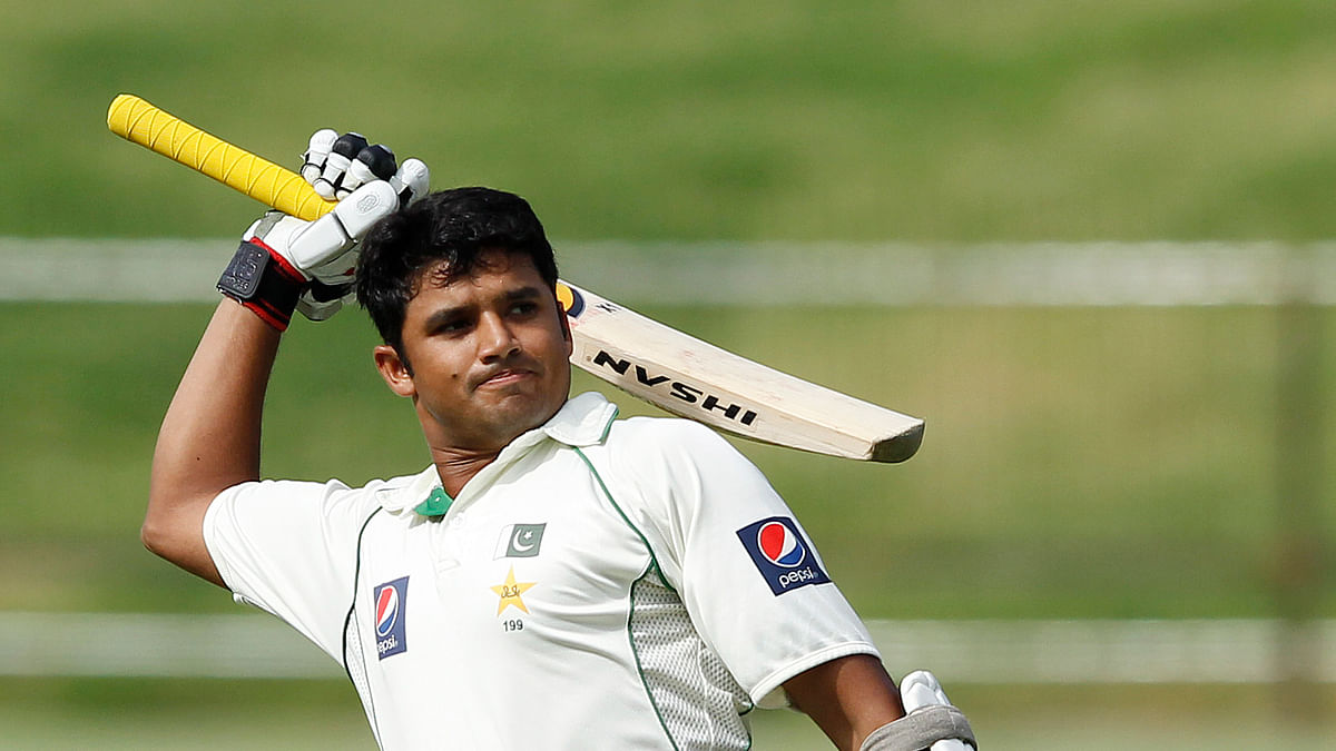 Azhar Ali celebrates after scoring a century during a Test match against Sri Lanka in Pallekele July 11, 2012. (Photo: Reuters)