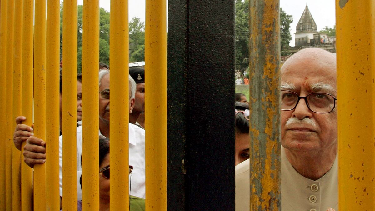 File image of LK Advani in Ayodhya. (Photo: Reuters)
