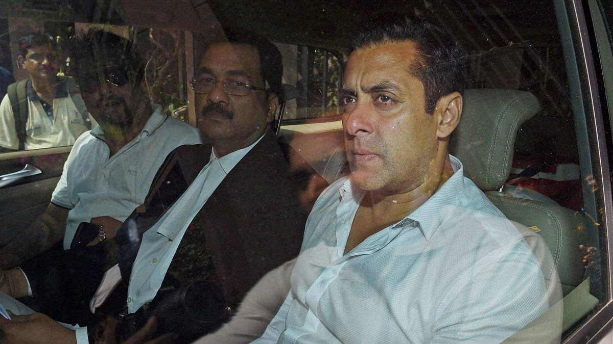 Actor Salman Khan arrives at a Mumbai court. (Photo: PTI)